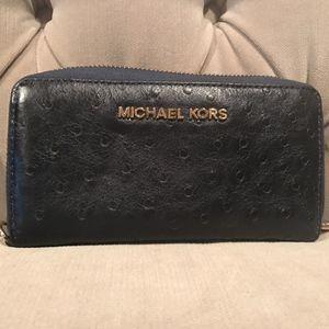 Michael Kors navy large wallet